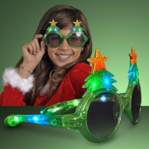 Glitter Christmas Light Up Flashing LED - Christmas Sunglasses
