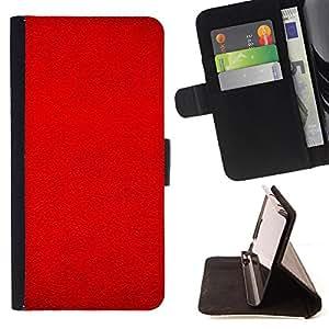 - Red Bright Blood Leather Imitation - Estilo PU billetera de cuero del soporte del tir???¡¯????n [solapa de cierre] Cubierta- For Samsung Galaxy S6 £¨ Devil Case £©