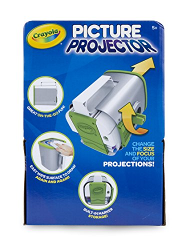 510a 3Ems1L - Crayola Picture Projector, Night Light Projector, Kids Flashlight, Gift, Ages 5, 6, 7, 8