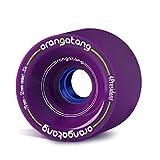 Orangatang 4 President 70 mm 83a Cruising Longboard Skateboard Wheels w/Loaded Jehu V2 Bearings (Purple, Set of 4)