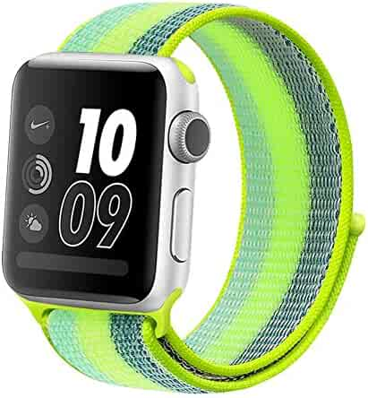 Compatible for Apple Watch Strap 38mm 40mm 42mm 44mm,Breathable Soft Replacement Wristband for iWatch Series 4 3 2 1,Nike+