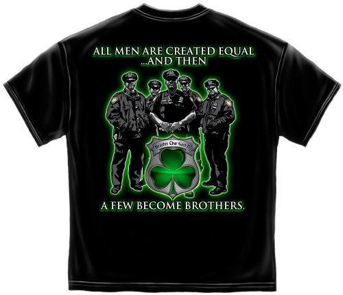 Law Enforcement Short Sleeve Shirts, 100% Cotton Casual Men's Shirts, Show Your Pride with Our Unisex Garda Ireland's Finest Law Enforcement T Shirts for Men Or Women (XX-Large)