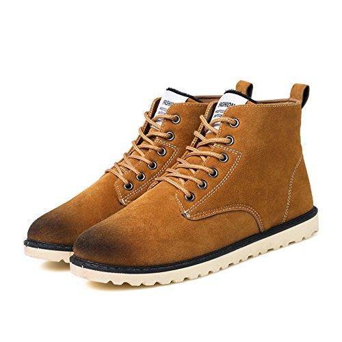 Martin Neve Uomo Marrone Stivali Casuale Stivali all'aperto Inverno Sportive Scarpe High top Caldo da Hishoes Sneakers Antiscivolo Boots x7nHSn