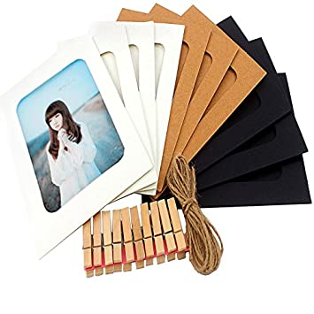 Amazon.com - 10 PCS frames, Paper Photo Frames 4x6 DIY Collage for ...
