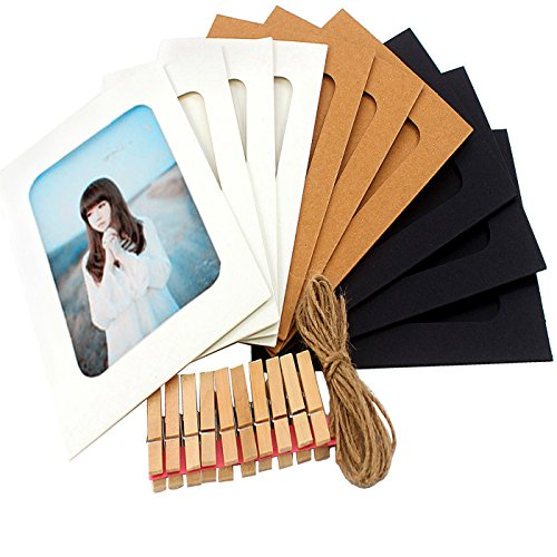 Perfect 4U 10 PCS Frames,Paper Photo Frames 4x6 DIY Collage Wall Hanging ()
