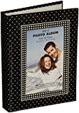 """Brag Book With Frame 36 Pocket 4""""X6""""-Black With White Dots"""
