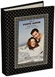 MBI 802035Brag Book with Frame 36 Pocket 4'X6'-Black with White Dots
