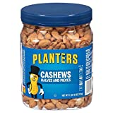 Planters Cashew Halves and Pieces Salted, 2 Tubs (1 Pound 10 oz)