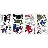 ROOMMATES RMK1690SCS Extreme Sports Peel and Stick Wall Decals Picture