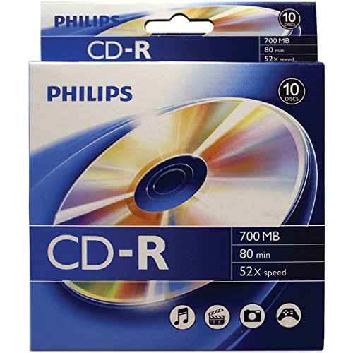 Philips CR7D5BB10/17 CD-R 10PK PEG BX