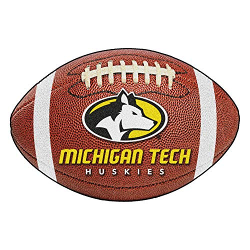 (FANMATS NCAA Michigan Tech University Huskies Nylon Face Football Rug)
