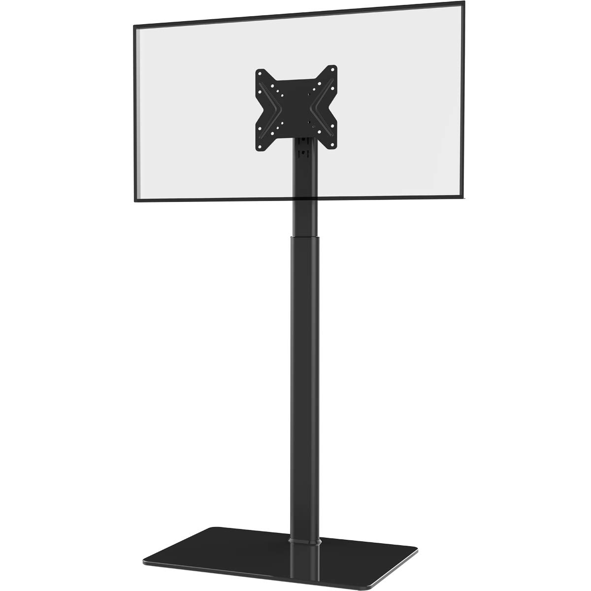 Universal TV Stand with Mount 100 Degree Swivel Height Adjustable and Tilt Function for 19 to 42 inch LCD, LED OLED TVs,HT1001B by Hemudu