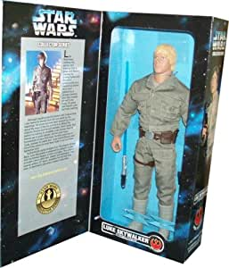 1996 - Kenner - Star Wars Collector Series - Luke Skywalker in Bespin Fatigues - Rebel Alliance - 12 Inch Action Figure - Out of Production - Rare - New