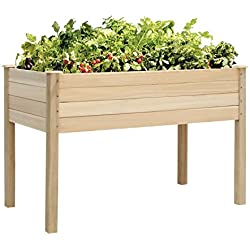 Kinbor Raised Vegetable Patio Garden Bed Elevated Planter Kit Easy Grow Gardening Vegetables