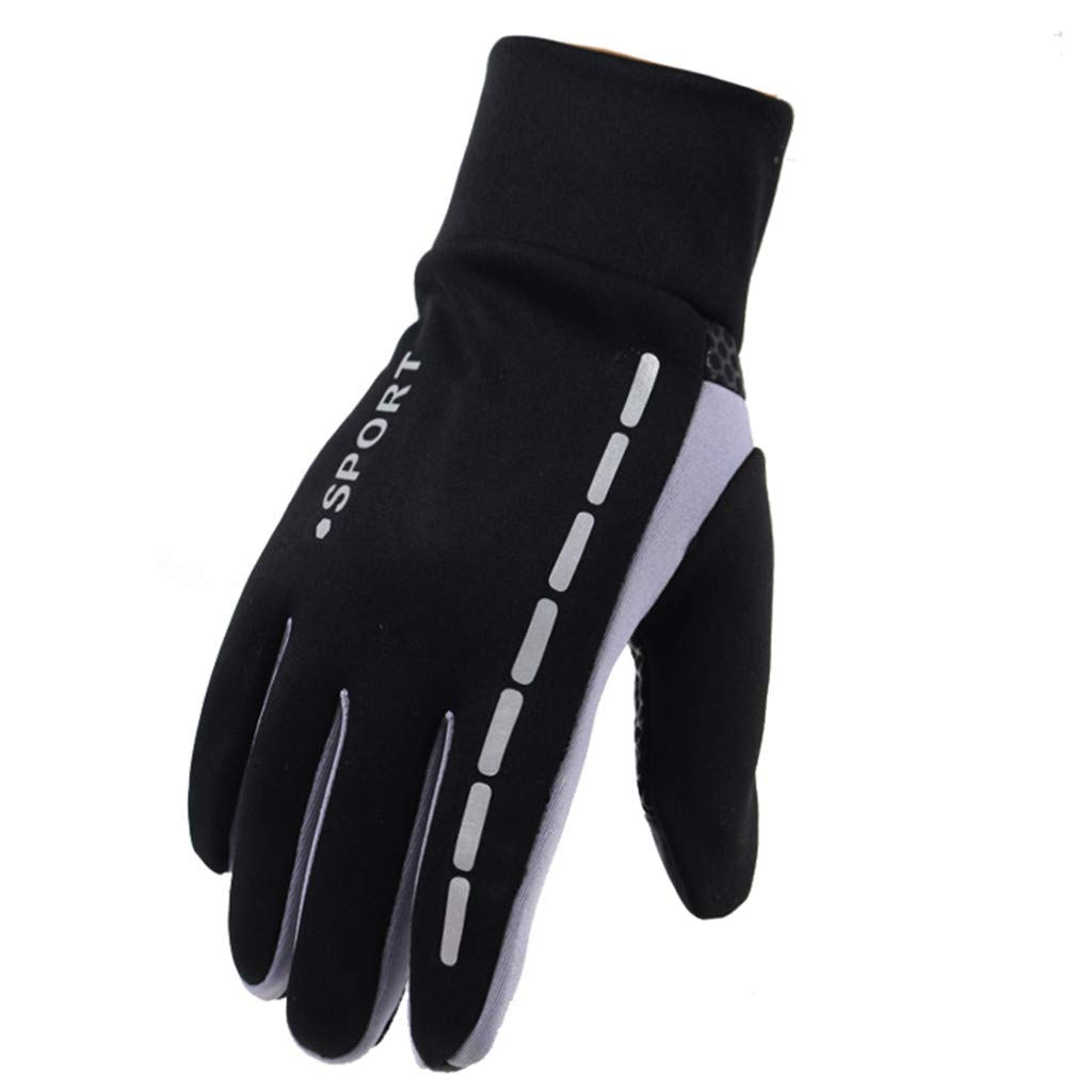 Panpany Unisex Cycling Gloves Winter Warm Gloves Water Resistant Windproof Touch Screen Gloves for Outdoor Sports Riding Climbing Camping Hiking Motorcycle Work