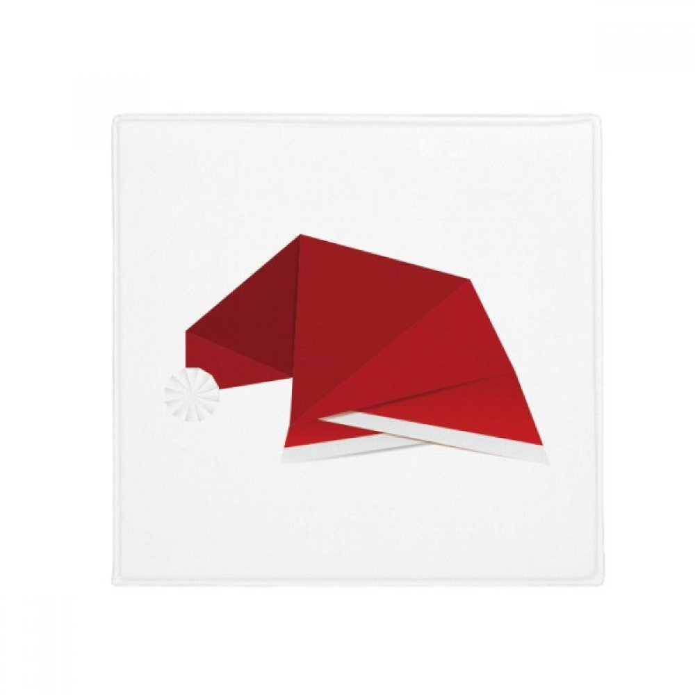 DIYthinker Red Abstract Christmas Hat Origami Anti-Slip Floor Pet Mat Square Home Kitchen Door 80Cm Gift