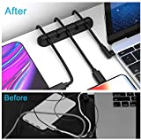 Tycom Cable Organizer Cord Management 3+1 Adhesive