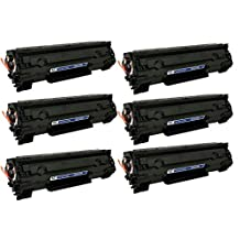 HP CE285A New Compatible Black Toner Cartridge use with CANON IMAGECLASS LBP6000, LBP6020, MF3010, HP LASERJET M1132 MFP, P1102W, P1102 HP LASERJET PRO M1210, M1212NF, M1217NFW MFP ( Pack of 6 )
