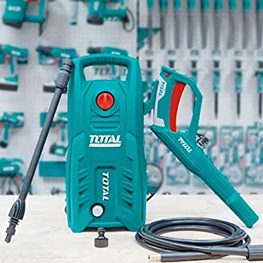Total 1400-WATT High Pressure Washer 130Bar (1900PSI) with TSS Auto Shut Off and 100% Copper Wire Carbon Brush Motor 9