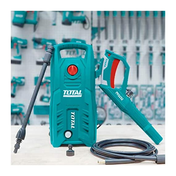 Total 1400-WATT High Pressure Washer 130Bar (1900PSI) with TSS Auto Shut Off and 100% Copper Wire Carbon Brush Motor 2