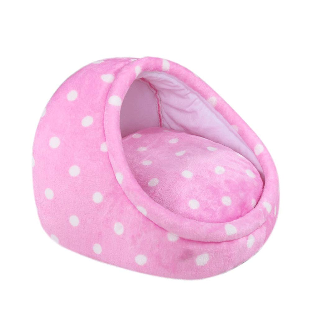 PINK 35×35×25cm PINK 35×35×25cm Pet Bed Doghouse Four Seasons Small and Medium-Sized Dogs Cat Litter Winter Warm Dog Mat Washable Pet Supplies A+ (color   Pink, Size   35×35×25cm)