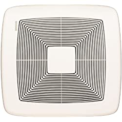 Broan QTXE080 Ultra Silent Bath Fan, 80 CFM, White Grille
