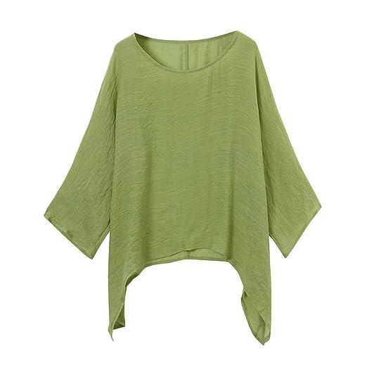 d207ebc1c708b Amazon.com  Red Ta Women Autumn Cotton Linen Long Sleeve Pullover  Shirt