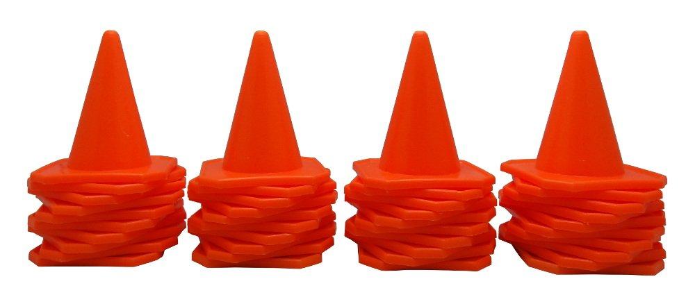 BlueDot Trading 4'' RC Racing Agility Cones, Orange  - Set of 40