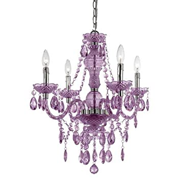 af lighting 83534h naples four light mini chandelier light purple