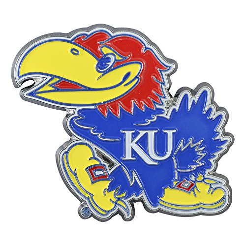 - Zokee-University of Kansas University of Kansas Color Chrome Car Emblem