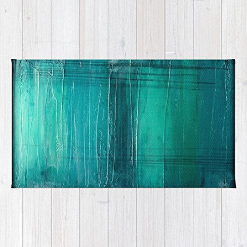 Teal Area Rug – Modern Décor – Zen Home Accent