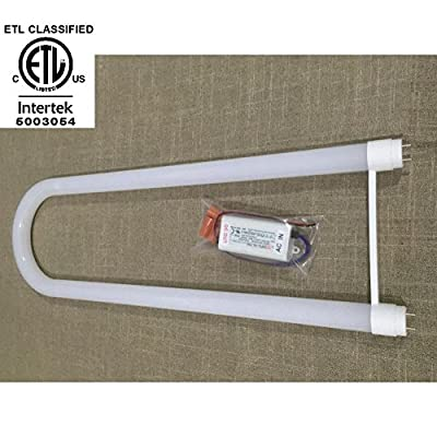 AMATRON ETL Listed T8 LED U-BEND TUBE BY-PASS BALLAST 16W 2100 lumen 4100K Cool White TO REPLACE 40W FLUORESCENT U-BENT TUBE