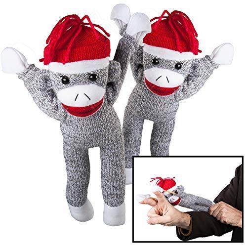 (Nostalgic Images (2 Pack Super Fly Sock Monkey Screaming Flying Stuffed Animal Toy for Kids Children )