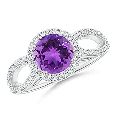 Angara Amethyst Ring in Platinum