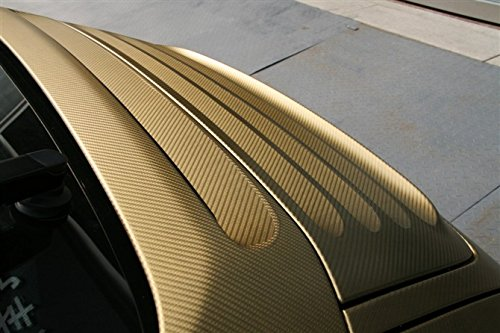 F & B LED LIGHTS Golden 3D Carbon Fiber Film Twill Weave Vinyl Sheet Roll Wrap (120'' X 60'', Golden) by F & B LED LIGHTS (Image #3)