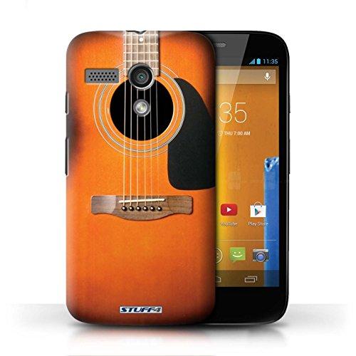 Etui / Coque pour Motorola MOTO G (2013) / Sunburst Acoustique conception / Collection de Guitare