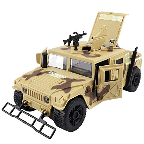 Kikioo Simulation Military Toys Die-cast Inertial Metal Alloy Models Tank Armored Car Opening Doors With Sound And Light Pullback Action Detailed Interior Model 3 Years Old Children's Birthday Present