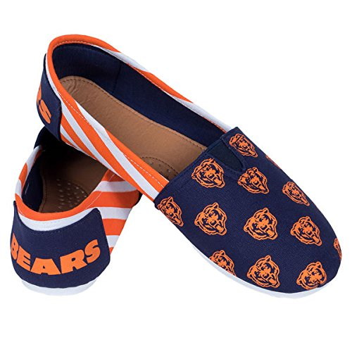NFL Team Ladies Canvas Collectibles Football On Forever Womens Shoes Bears Stripes Slip Summer Chicago 2015 Pick S7EfT