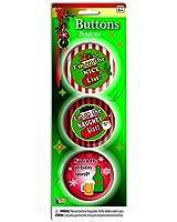 Hilarious Christmas Funny Buttons Set