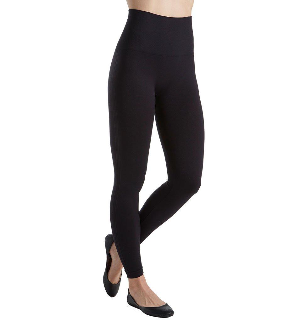 Spanx Women's Plus Size Seamless Print Leggings Very Black Pants