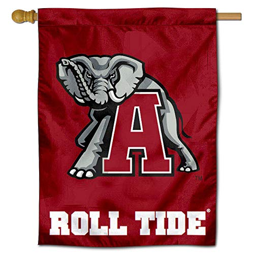 (College Flags and Banners Co. Alabama Throwback Mascot House Flag)