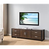 Smart Home Dark Walnut & Black Edition TV Stands (60 Inch, Dark Walnut)