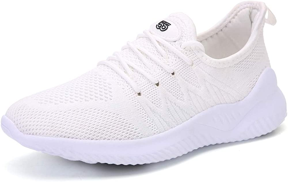 ZOVE Walking Tennis Shoes Women Girls Fashion Non Slip Lightweight Athletic Running Work Out Sneakers 5502 White 38