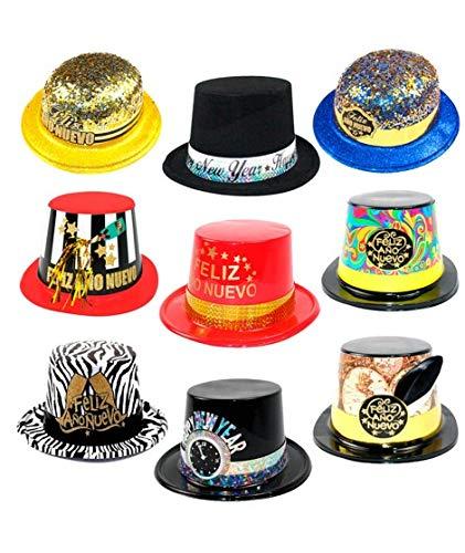 Cotillón Nochevieja Pack Sombreros Año (10 uds) Plástico ...