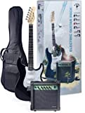 Stagg ESURF 250 US Surfstar Electric Guitar and Amplifier Package - Black