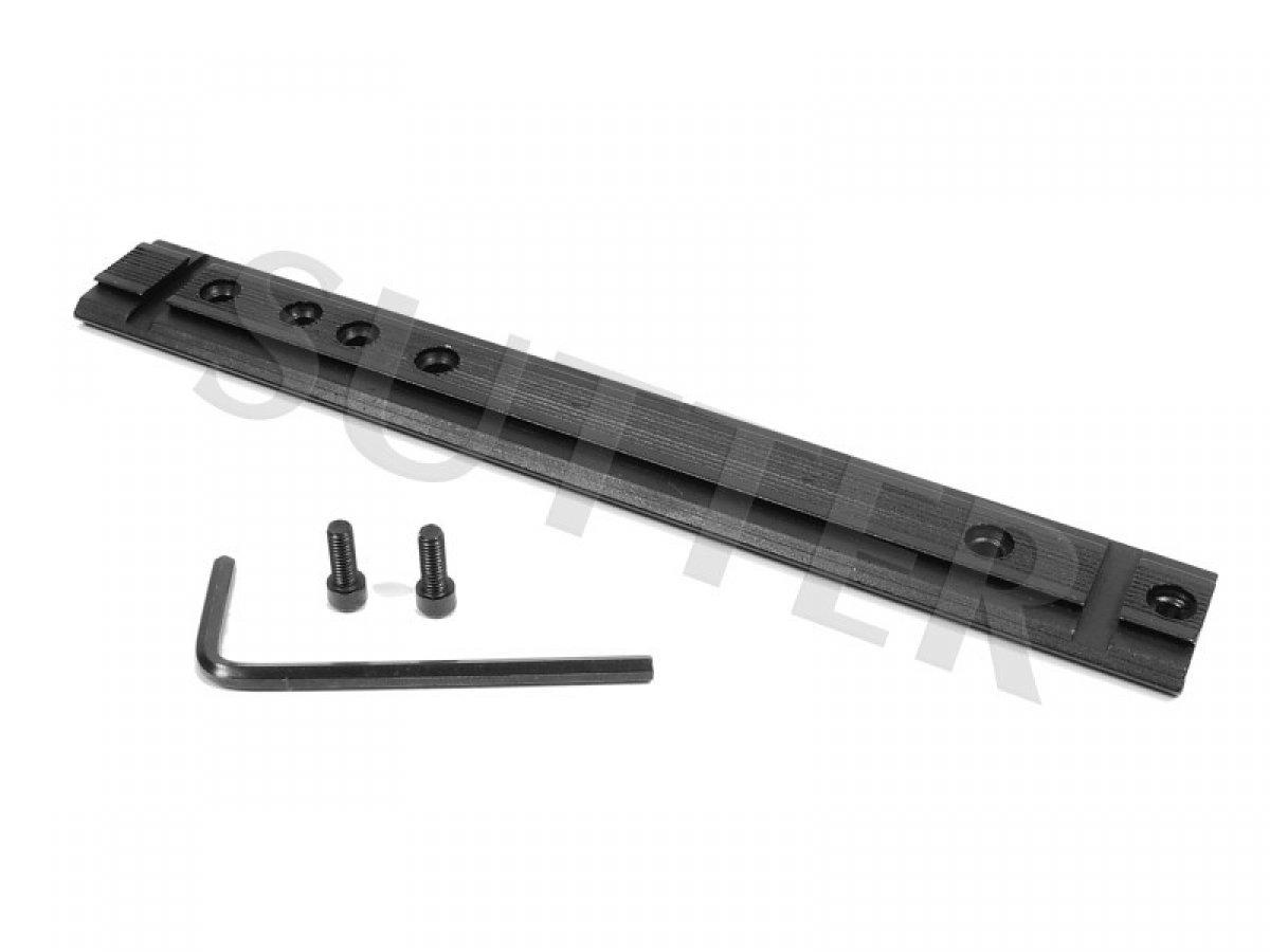 Sutter Riel adaptador universal estable de 21mm & 11mm - 150 mm - Riel de montaje, anillo de montaje para miras telescópicas RedDot y visores