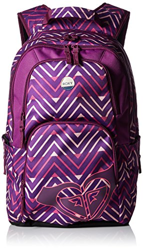 Roxy Laptop Backpacks (Roxy Junior's Huntress Backpack, black Berry Chevron Geo, One Size)