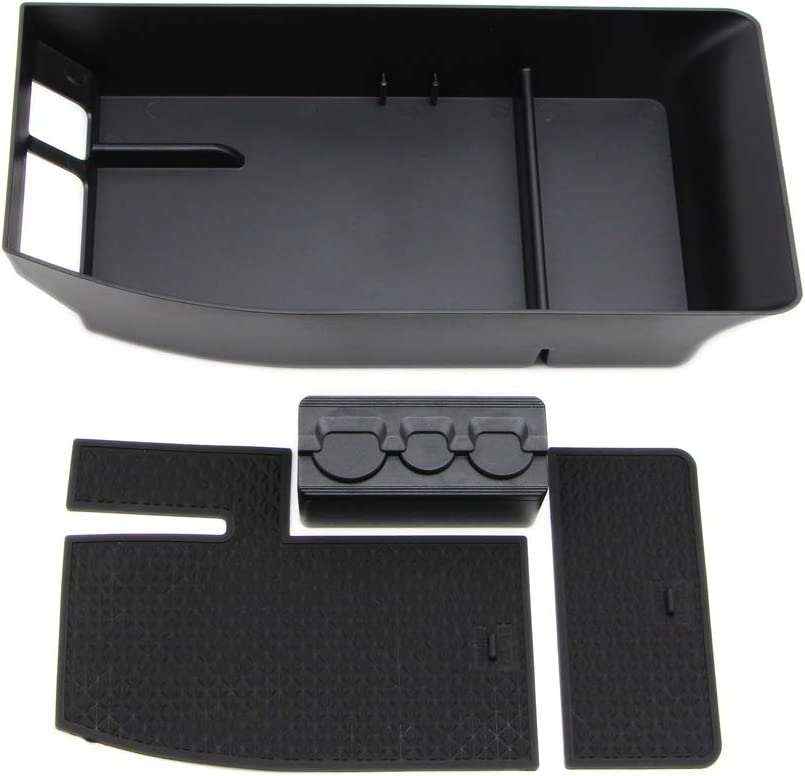 Dreamseek Armrest Storage Box Tray for Toyota Avalon 2019 2020 Interior Center Console Holder Glove Organizer with Rubber Mat