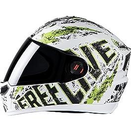 Steelbird SBA-1 Free Live Matt White with Green with Smoke visor,580mm