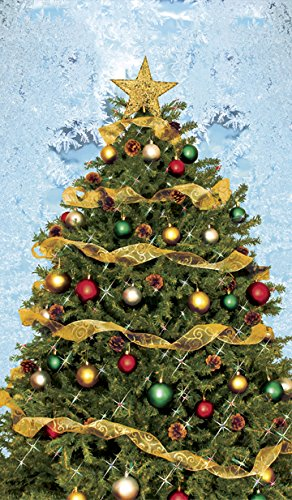 wowindow posters christmas tree with frosted background christmas window decoration 345x60 - Amazon Christmas Tree